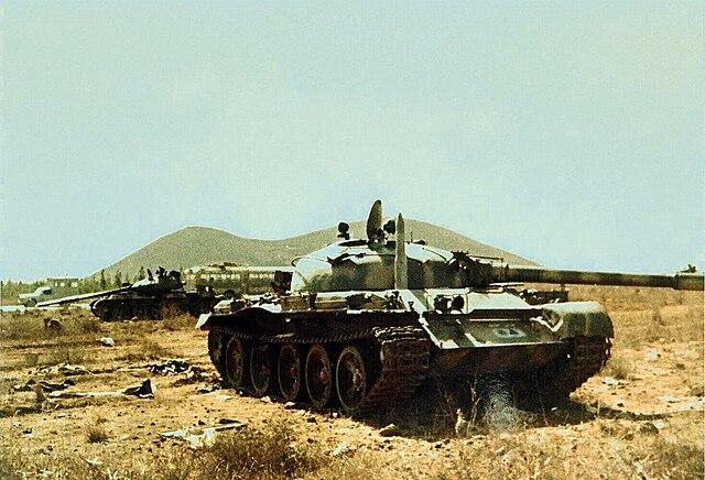 Συριακό εγκαταλειμμένο άρμα μάχης Τ-62 στα Υψώματα Γκολάν (Φωτογραφία: Wikipedia)
