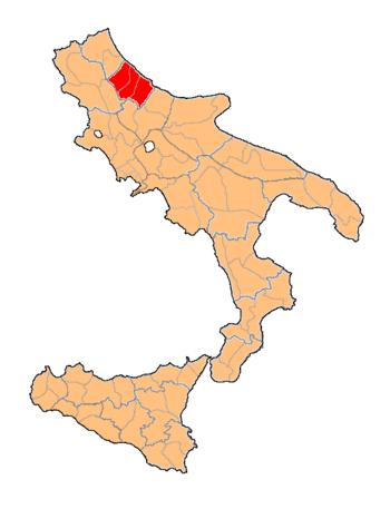 English: Department of Abruzzo Citeriore, of K...