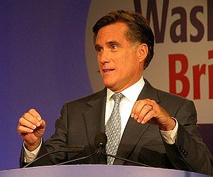 Mitt Romney in 2007 in Washington, DC at the V...