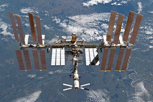 STS-133 International Space Station after undocking 5