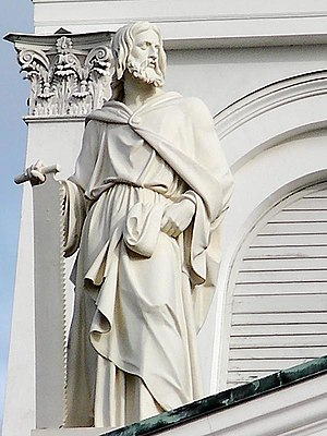English: Statue of Simon the Zealot by Hermann...