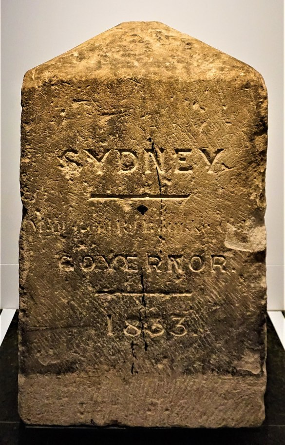Sydney Boundary Stone 1833