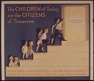 THE CHILDREN OF TODAY ARE THE CITIZENS OF TOMO...