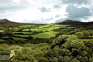 English: Widecombe in the Moor, England.