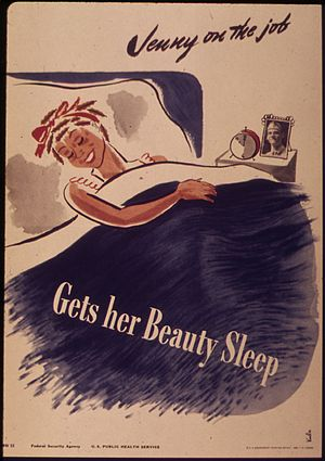 """Jenny on the job - Gets her beauty sleep..."