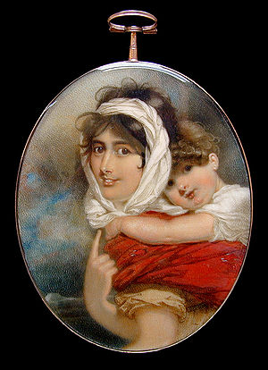 English: Miniature portrait of Anne Becher Tha...