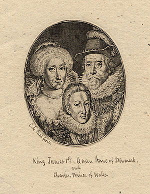 Anne of Denmark; King Charles I when Prince of...