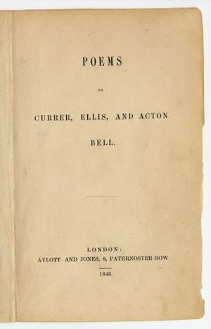 Cover of the first edition of Poems by Currer,...