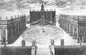 Michelangelo's design for Capitoline Hill, now...