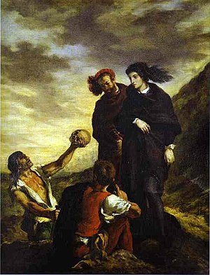Eugène Delacroix, Hamlet and Horatio in the Gr...