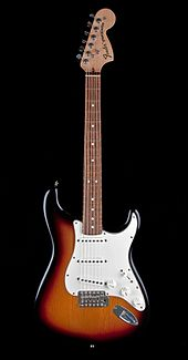 fender stratocaster pickup wiring diagram nissan x trail t30 ecu electric guitar wikipedia has one of the most often emulated shapes