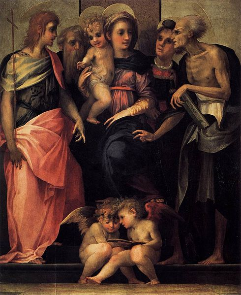 Rosso Fiorentino, Madonna Enthroned with Four Saints