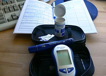 A kit used by a woman with gestational diabetes.