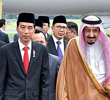 Joko Widodo and Salman of Saudi Arabia, 1 March 2017