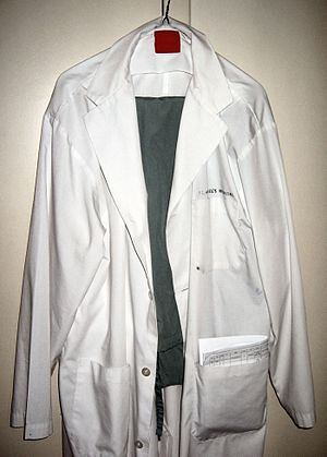 My lab coat and scrubs -- Samir धर्म 11:07, 7 ...