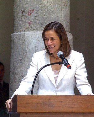 English: Wife of Mexican President Felipe Cald...