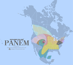 A map of the fictional nation of Panem from Su...