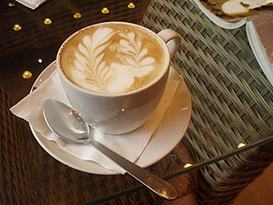 Perfect caffe latte from Cafe Coffee Day