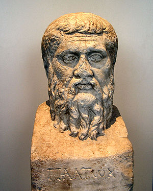 Inscribed herm of Plato. (Berlin, Altes Museum).