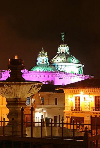 Español: Centro Histórico de Quito, Iglesia de...