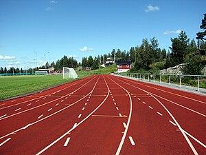English: Athletics tracks at Skyttis IP in Örn...