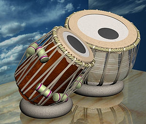 The tabla (Hindi: तबला, Telugu: తబలా, Urdu: تب...