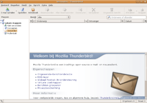 Mozilla Thunderbird (shown here is version 1.0...