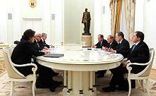 Steinmeier with Vladimir Putin, 23 March 2016