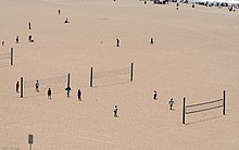 beach volleyball court diagram where are your appendix located wikipedia public courts in santa monica the modern two man version originated
