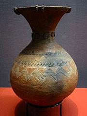Vaso del periodo Yayoi. Museo Nazionale di Tōkyō.