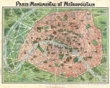 File 1920 Art Nouveau Monument Map Of Paris France