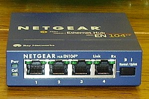4-port Ethernet hub