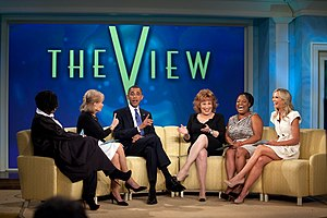 President Barack Obama records an episode of T...