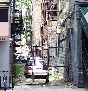 Broadway Alley in Manhattan, New York City, on...