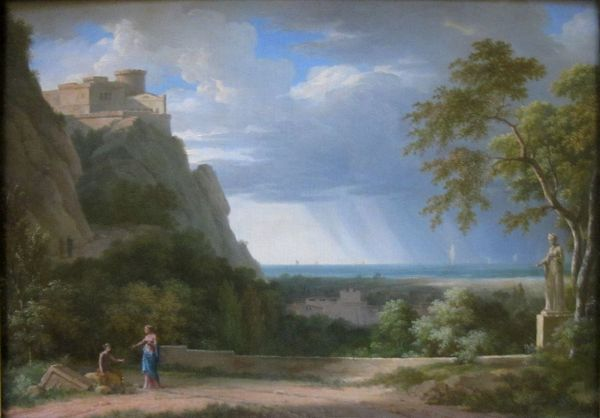 File Classical Landscape With Figures And Sculpture