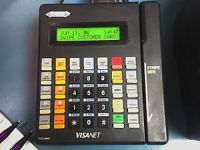 English: A typical credit card terminal that i...