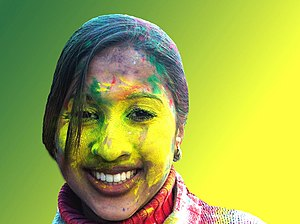 Girl at Holi Phagwa