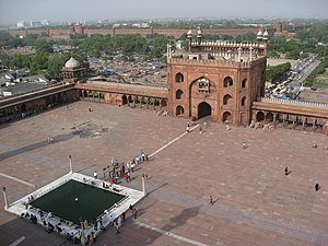 Looking down on Jama Masjid from the top of a ...