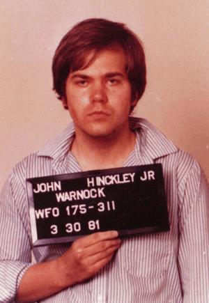 English: Mugshot taken by the FBI of Hinckley ...