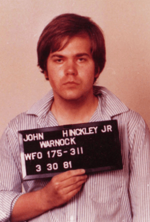 English: Mugshot taken by the FBI of Hinckley ...