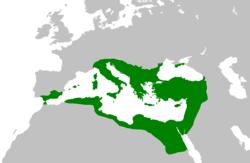 Location of Byzantine Empire