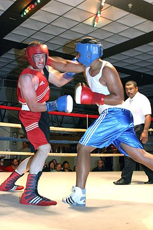 Headgear and boxing gloves are mandatory in Ol...