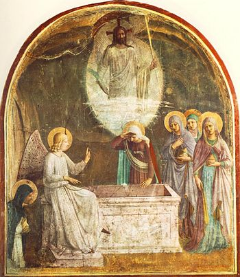 ANGELICO, Fra Resurrection of Christ and Women...