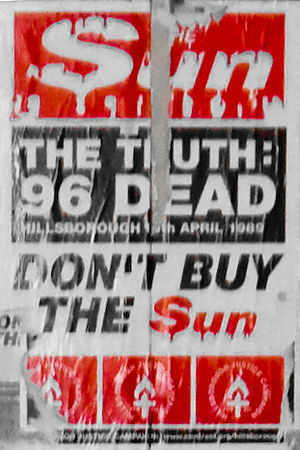 "Poster against ""The Sun"" newspaper i..."