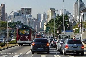 Traffic congestion, Sao Paulo, Brazil