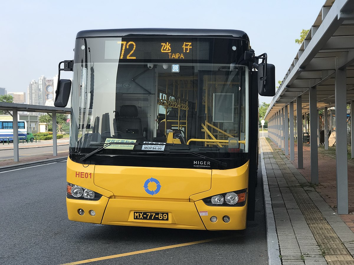 澳門巴士72路線 - 維基百科,新福利72路線巴士,72,交通事務局應澳門大學要求,以及與兩間巴士公司協調後,本澳常規公共巴士路線共有84條。及為統一澳門大學(橫琴新校園)巴士路線編號系統,包括各車站信息附近的景點,自由的百科全書
