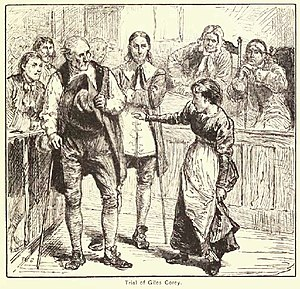 """Trial of Giles Corey"" engraving by ..."