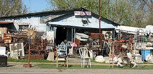 """Antique"" shop, Tallulah, Louisiana"