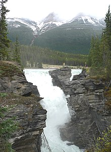 Falling Into Water Wallpaper Athabasca Falls Wikipedia