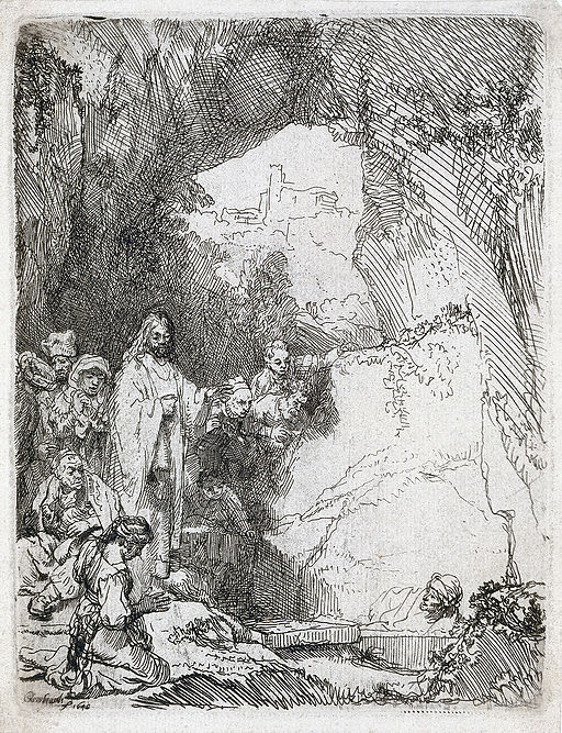 The raising of lazarus rembrandt etching